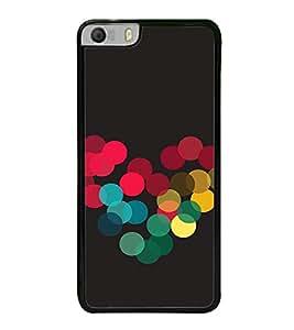 Colourful Dots Hearts 2D Hard Polycarbonate Designer Back Case Cover for Micromax Canvas Knight 2 E471