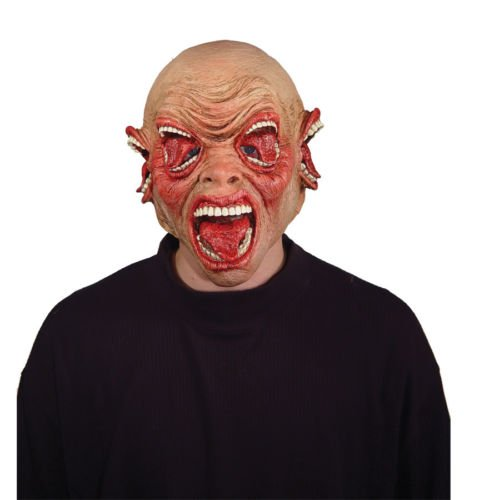 [HALLOWEEN ADULT CACOPHONY GNARLY GNASHER MASK MOUTH MONSTER HORROR MASK PROP] (Gnasher Dog Costume)