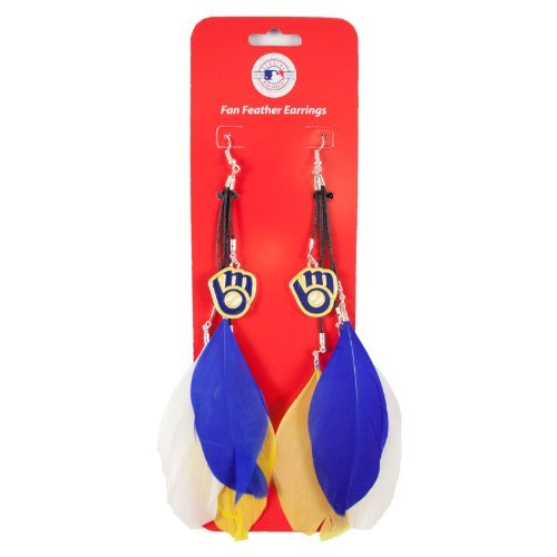 MLB Milwaukee Brewers Feather Earring by Littlearth (Milwaukee Brewers Cycling compare prices)