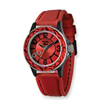 Moog Fashionista Huit Red Dial/Red Silicon Strap Watch