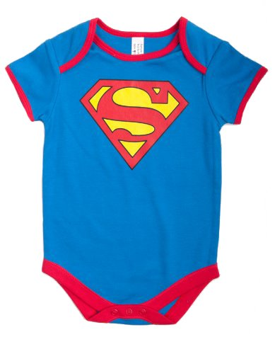 Super Baby Boys Long Sleeve Bodysuit (Blue, 12 - 18 Months)