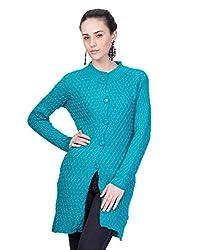 Montrex TURQUOISE Designer Long Coat For Women