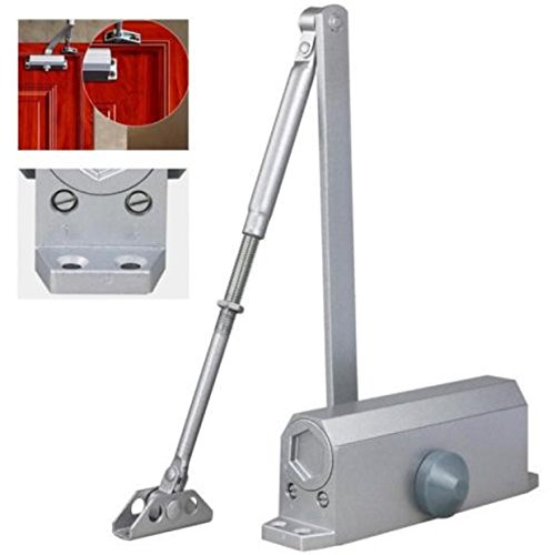 Automatic Door Closer Hinge Hold Tow Independent Screen Pats Valves Control 65-85 KG Silver Aluminum (Electric Crawl Space Heater compare prices)