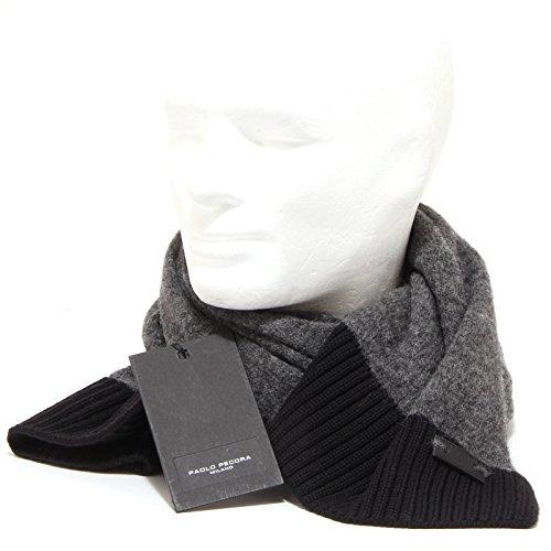 7980P sciarpa unisex grigia PAOLO PECORA accessori uomo scarf [Taglia unica]