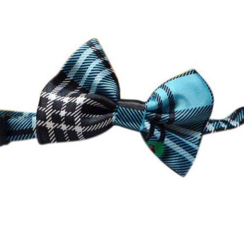 Toptie Wholesale 10 Pc Kid'S Solid Pre-Tied Bow Ties Blue Plaid Bowties