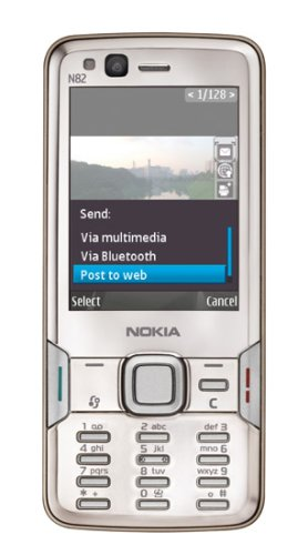 41OpfVuyEEL Nokia N82 Unlocked Phone with 5 MP Camera, International 3G, Wi Fi, GPS, MP3/Video Player, and MicroSD Slot  International Version with Warranty (Silver)