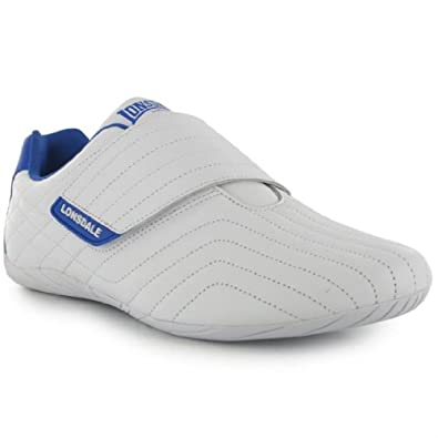 Lonsdale Brompton Mens Trainers White/Blue 7 UK UK