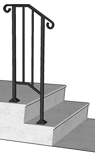 DIY Iron X Handrail Picket #1 Fits 1 or 2 Steps (Wrought Iron Railing For Steps compare prices)