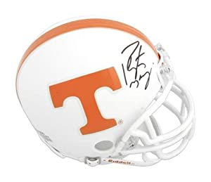 Peyton Manning Tennessee Volunteers Autographed Riddell Mini Helmet - Memories -... by Sports+Memorabilia