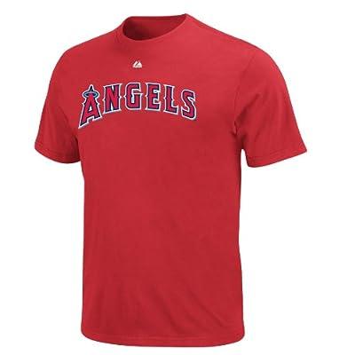 MLB Los Angeles Angels Albert Pujols #5 Name and Number T-Shirt Red, Medium