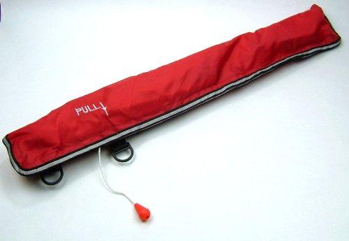 ベルト型 自動膨張式 インフレータブル ライフジャケット (レッド)