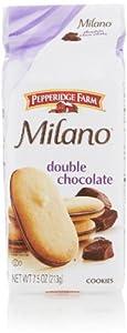 Pepperidge Farm Milano Cookies, Double Chocolate, 7.5 Oz