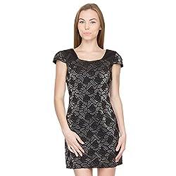 Species Women's A-Line Dress (S-709_Black_Medium)