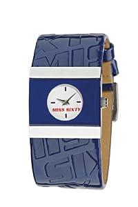 Miss Sixty Sib003 - Reloj para niñas de cuarzo, correa de piel color azul claro