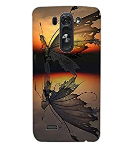 ColourCraft Creative Butterfly Design Back Case Cover for LG G3 BEAT