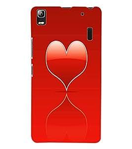ColourCraft Heart Design Back Case Cover for LENOVO A7000