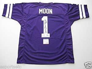 Autographed Warren Moon Jersey - Custom w 78 ROSE BOWL MVP ITP - PSA DNA Certified -... by Sports+Memorabilia