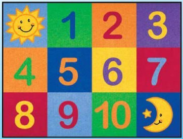 Learning Carpets CPR 570 Number Grid Rug  цена