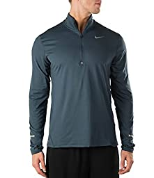 Nike Mens Dri-Fit Element Half Zip Running Top Squadron Blue Large