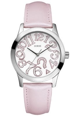 Guess W65011L1 - Orologio da polso donna Pop Quiz rosa
