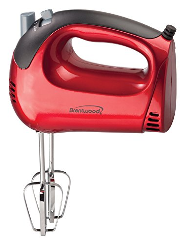 Brentwood HM-46 5-Speed Tone Color Hand Mixer, Red (Hand Mixer Color compare prices)