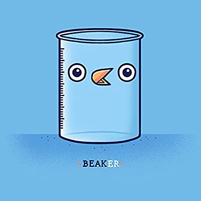 """Beaker"" Chemistry & Bird Mashup - Vinyl Sticker"