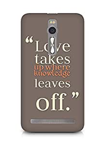 Amez designer printed 3d premium high quality back case cover for Asus Zenfone 2 (Love Quote 3)