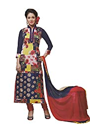 Namrah Collection Women's Georgette Printed (04, Blue)