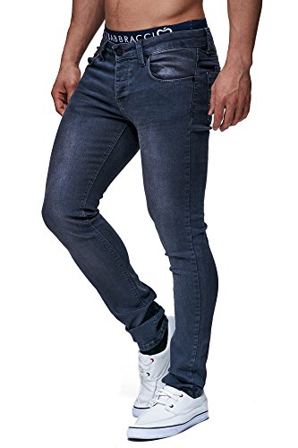 LEIF NELSON Herren Hose Jeans Jeanshose Freizeithose Denim FBA302AN; W32L32, Anthrazit thumbnail