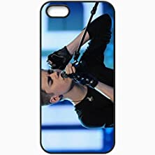 buy Personalized Iphone 5 5S Cell Phone Case/Cover Skin Justin Bieber Microphone Headphone Speech Song Gloves Excitement Emotion Black