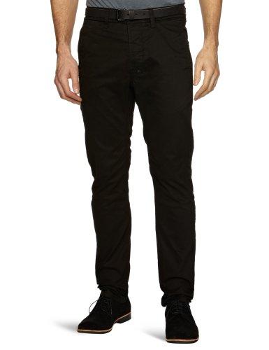 J.C. Rags Woven 3211190 Slim Men's Trousers Black A36 W36 INxL34 IN