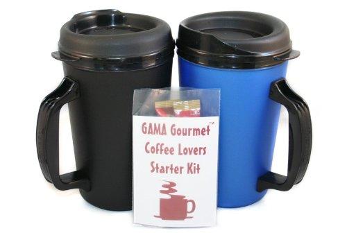 Gourmet 20 Oz Thermoserv Coffee Blue & Black Mug Kit