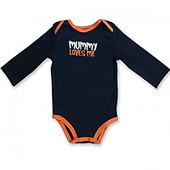 Carter Infant Long-sleeve Body Suit - Mummy Loves Me - Halloween - Black and Orange
