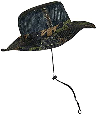 Tropic Hats Floating Mesh Safari/Outback Lightweight Summer Hat W/Snap Up Sides (One Size)