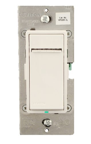 Leviton VP00R-1LZ, Vizia + Digital Matching Remote Dimmer/Fan Speed Control, 3-Way or more applications, White/Ivory/Light Almond