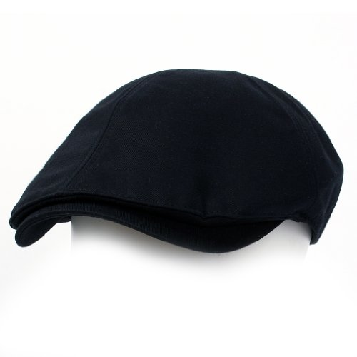 ililily New Men's Cotton Flat Cap Cabbie Hat Gatsby Ivy Caps Irish Hunting Hats Newsboy with Stretch fit (flatcap-004-2)