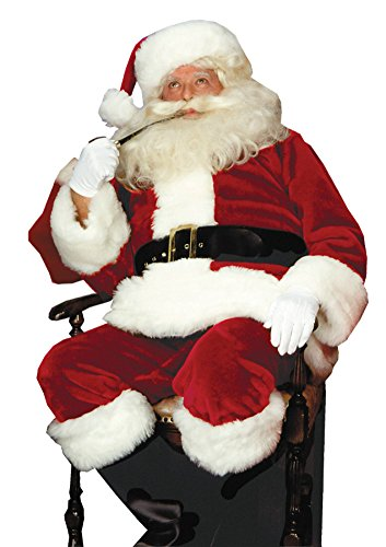 Rubies Mens Christmas Holiday Crimson Imperial Santa Suit Costume
