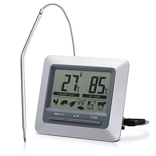 Topop thermom tre sonde num rique de cuisine num rique - Thermometre cuisine sonde ...