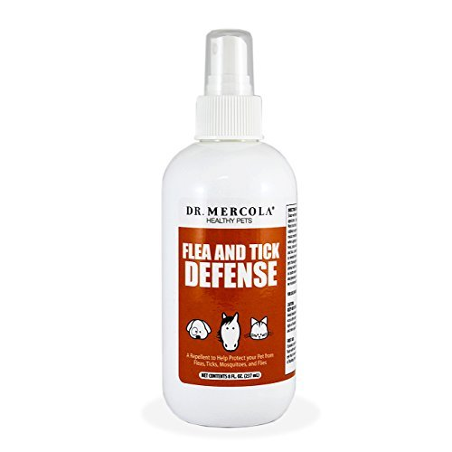 Dr. Mercola Natural Flea and Tick Defense - A Repellant To Help Protect Your Pet From Fleas, Ticks, Mosquitoes And Flies - Contains Natural Brazilian Oils - Safe, Natural Pest Deterrent - 8 Fl Oz