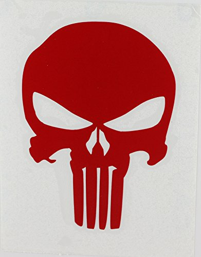 CandD Visionary Punisher Skull 4 Rub-On Red