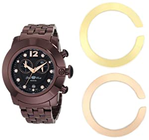 Glam Rock Women's GR32179 SoBe Chronograph Black Dial Brown Ion-Plated Stainless Steel Watch