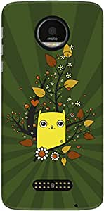 The Racoon Grip Cat Dreams hard plastic printed back case/cover for Motorola Moto Z