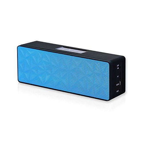 Solememo® Myvision N16 Bluetooth Speaker With Dual Drivers, Touch-Sensitive Controls, And Stereo Bass Sound For Cell Phone, Pc, Laptop, Tablet, Mp3 / Mp4 Media Player, Psp, Etc. (Blue)