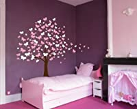 Large Wall Tree Baby Nursery Decal Butterfly Cherry Blossom 1139 (6 Feet Tall) from Innovative Stencils
