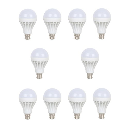 Earton 12W LED Bulb (White, Pack of 10)