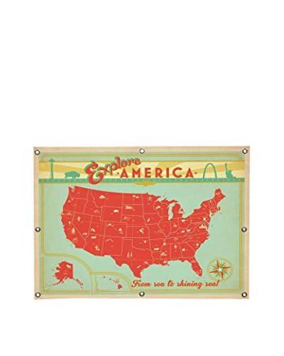 Explore America Canvas Wall Mural