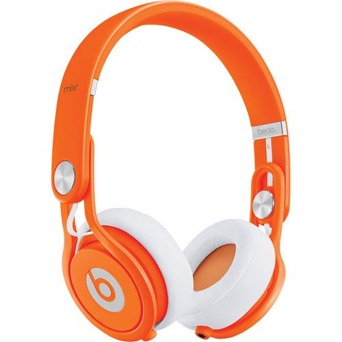 Beats by Dr. Dre Mixr Deep Bass Response Lightweight DJ Over-ear Headphones (Orange)
