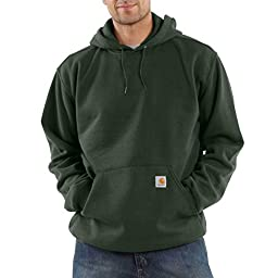 Carhartt Men\'s Big & Tall Midweight Sweatshirt Hooded Pullover Original Fit,Olive,Large Tall