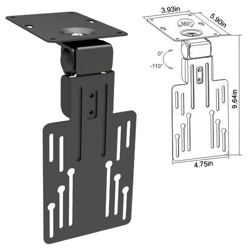 """Cmple - Ceiling Cabinet Mount For 13""""-23"""" Led, Lsd, Plasma Tvs With Swiveling And Folding Mechanism"""