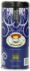 Ceylon Teas Ceylon English Breakfast Tea Canister, 20-Count (Pack of 6)